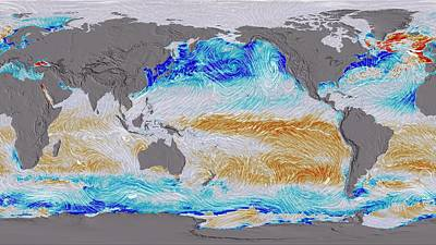 Carbon Photograph - Ocean Surface Co2 And Winds by Nasa's Scientific Visualization Studio