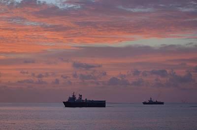 Photograph - Ocean Surveyors At Sunset by Bradford Martin