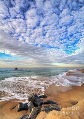 Ocean Touches The Sky Art Print by Eddie Yerkish