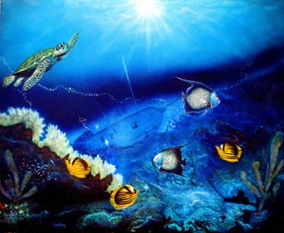 Painting - Ocean Treasure  by Dan Townsend