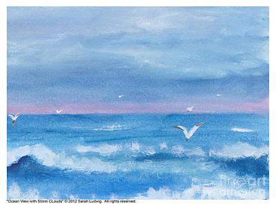 Ocean View #2 Art Print by Sarah Howland-Ludwig