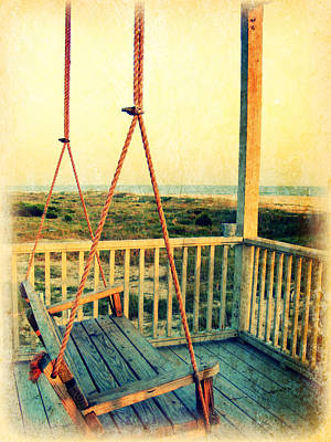 Ocean View At Oak Island 2 Art Print