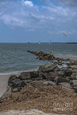 Photograph - Ocean View From Fort Moultrie by Dale Powell