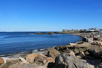 Photograph - Ocean View From Perkins Cove by Michael Saunders