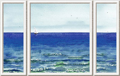 Ocean View Window Art Print by Irina Sztukowski