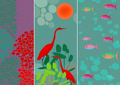 Digital Art - Ocean Views - Limited Edition Of 15 by Gabriela Delgado