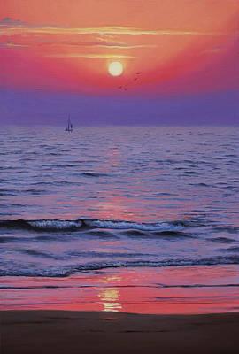 Artdeco Painting - Ocean  by Vrindavan Das