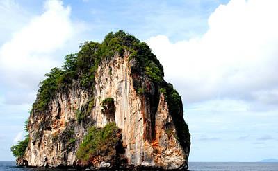 Photograph - Ocean Wall- Phi Phi Island - Krabi Thailand- Viator's Agonism by Vijinder Singh
