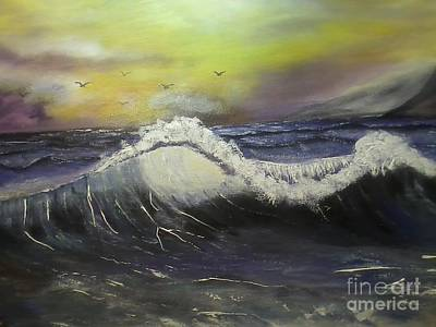 Phthalo Blue Painting - Ocean Wave by Ordy Duker