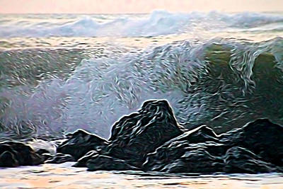 Mixed Media - Ocean Wave by Pamela Walton