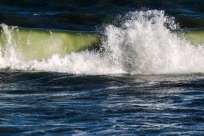 Beach Photograph - Ocean Wave Splashed by Zina Stromberg
