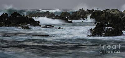 Photograph - Ocean Waves Before Daybreak by Richard Mason