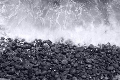 Photograph - Ocean Waves Crashing On The Rocks by John Orsbun