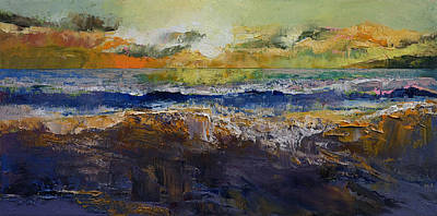 Mike Painting - California Waves by Michael Creese