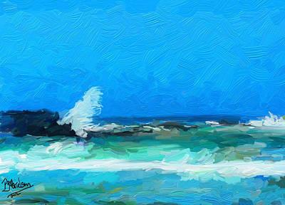 Digital Art - Ocean Waves by Peggy Gabrielson