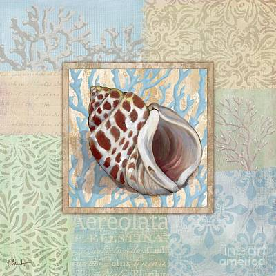 Conch Painting - Oceanic Shell Collage I by Paul Brent