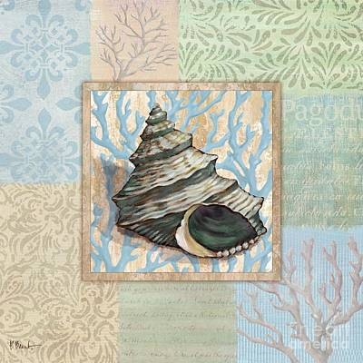 Painting - Oceanic Shell Collage II by Paul Brent