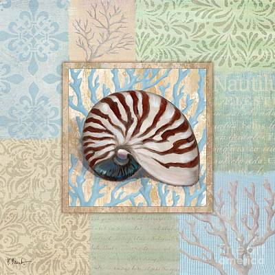 Conch Painting - Oceanic Shell Collage IIi by Paul Brent