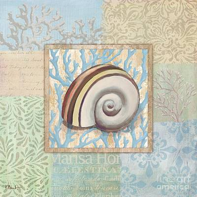Stamp Collection Painting - Oceanic Shell Collage Iv by Paul Brent