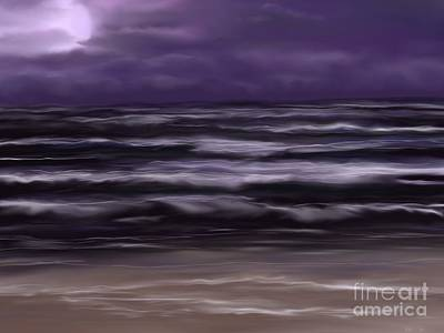 Painting - Ocean Night by Roxy Riou