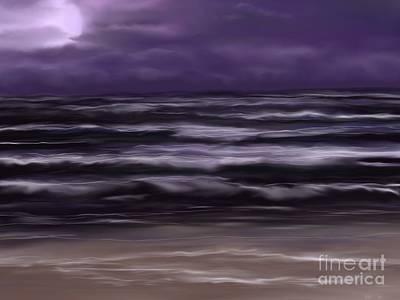 Ocean Night Art Print by Roxy Riou