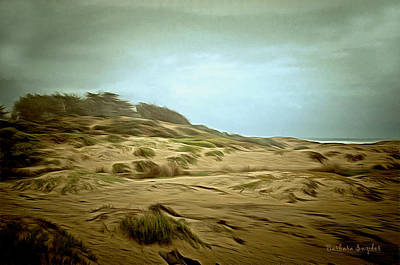 Sand Dunes Painting - Oceano Dunes by Barbara Snyder