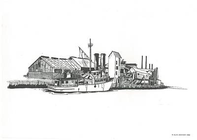 Oceanport Fish Factory Art Print