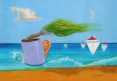 Ocean's Dream Art Print by R Neville Johnston