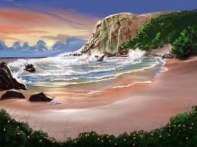 Ocean's Last Light Art Print by Anthony Fishburne
