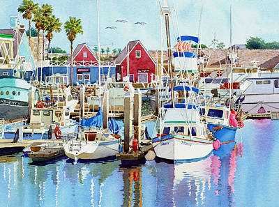 Harbor Scene Wall Art - Photograph - Oceanside California by Mary Helmreich