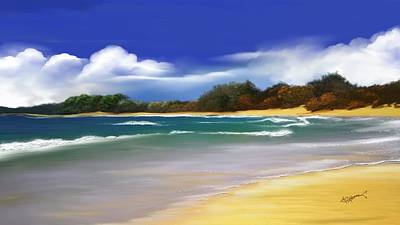 Art Print featuring the digital art Oceanside Dream by Anthony Fishburne