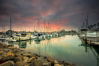 Oceanside Harbor Sunrise Art Print