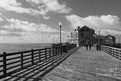 Oceanside Pier Art Print by Ana V Ramirez