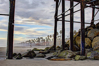 Rocks Photograph - Oceanside Pier by Ann Patterson