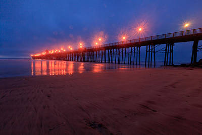 Photograph - Oceanside Pier At Night 2 by Ben Graham