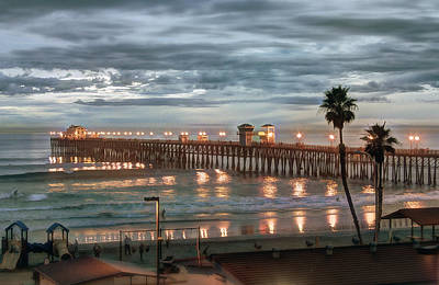 Pier Photograph - Oceanside Pier At Dusk by Ann Patterson