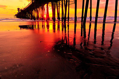 Photograph - Oceanside Pier At Sunset by Ben Graham
