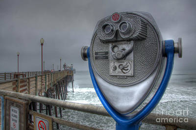 California Tourist Spots Photograph - Oceanside Pier California Binocular Vision by Bob Christopher