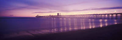 Oceanside Pier Photograph - Oceanside Pier Over The Pacific Ocean by Panoramic Images
