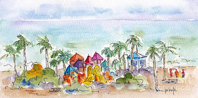 Painting - Oceanside Playground by Pat Katz