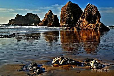 Photograph - Oceanside Sea Stacks by Adam Jewell
