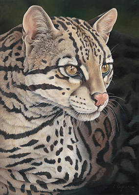 Intense Painting - Ocelot by Laura Regan