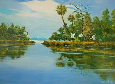 Ochlocknee River Art Print by Michael Cook