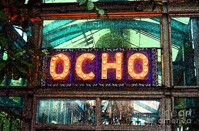Digital Art - Ocho San Antonio Restaurant Entrance Marquee Sign Fresco Digital Art by Shawn O'Brien