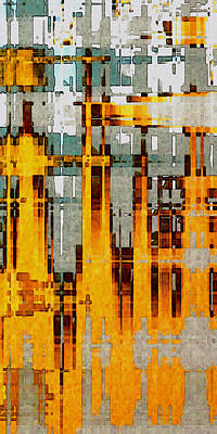 Digital Art - Ochre Urbanity by David Hansen