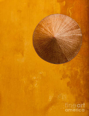 Photograph - Ochre Wall Conical Hat by Rick Piper Photography