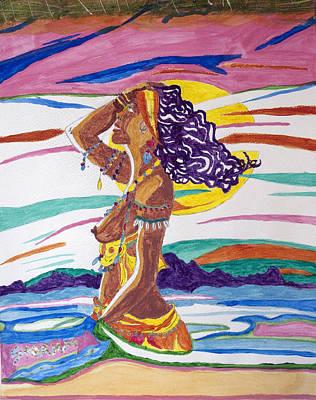 Orishas Wall Art - Painting - Oshun by Stormm Bradshaw