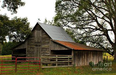 Faithful Oconee County Historic Barn Art Print