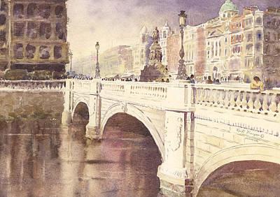 Oconnell Bridge Dublin Ireland Art Print by Keith Thompson