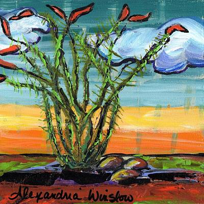 Southwestern Painting - Ocotillo by Alexandria Winslow